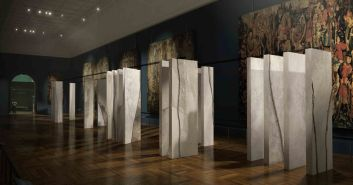 The Ogham Wall at V&A LDF 2015